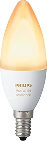 Philips Hue - Ampoule White Ambiance flamme E14 - Blanc chaud / Blanc froid
