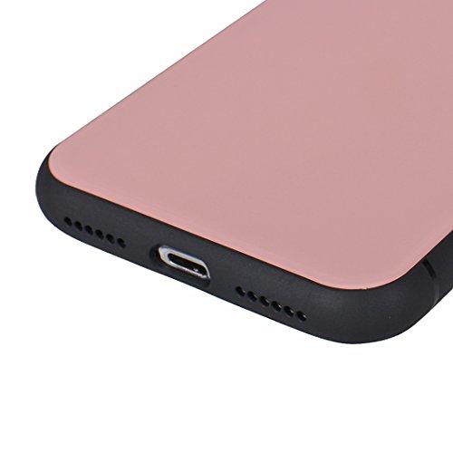 iPhone X Hard Hülle, Asnlove 2 in 1 Hart PC und TPU Anti-Scratch FeinMatt FederLeicht Hülle Bumper Cover Schutz Tasche Schale Hardcase für Apple iPhone 10 / iPhone X 5.8 Zoll 2017 - Schwarz Rose