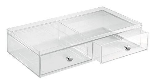 iDesign 36460EU Clarity 2 Stapelbare Schubladen, breit, 32,5 cm x 18,0 cm x 7,5 cm, durchsichtig, kunststoff