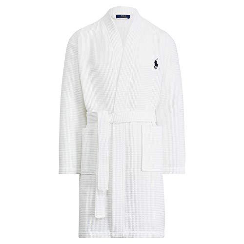 Polo Ralph Lauren Herren Robe Kimono, Weiß (White A1NPP), Small (Lauren 3xl Ralph Polo)