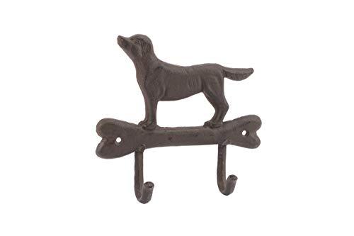 BCBGMAXAZRIA Hundeleine mit Zwei Haken, Gusseisen, für Hundehalsbänder und Hundehalsbänder