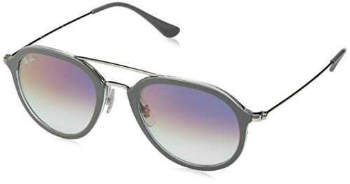 Ray-Ban Unisex-Erwachsene 0RB4253 6337S5 53 Sonnenbrille, Top Grey On Transparent/Cleargradientviolet,