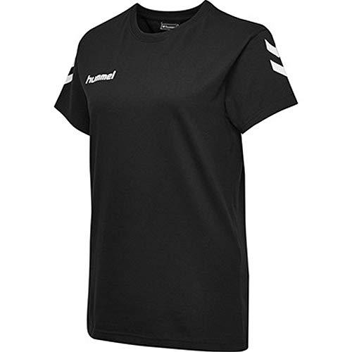 hummel Damen HMLGO Cotton S/S T-Shirts, Schwarz, 2XL