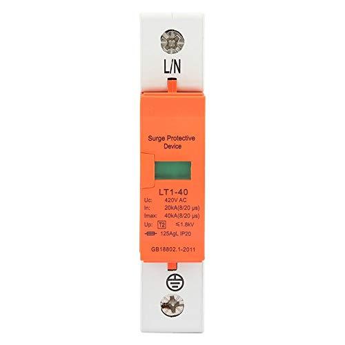 1P-Haus-Überspannungsschutz, 20kA-40kA 420vAC Überspannungsableiter-Niederspannungs-Ableiter