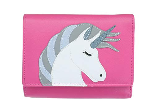 Mittlerer Leder-rahmen (Mala Leather Amara Collection Geldbörse aus Leder RFID 3475_28, Rose (Pink) - 3475_28)