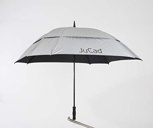 JuCad Golfschirm mit Stift Caddys Silber -