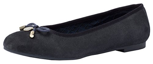 Tommy Hilfiger A1285MY 54B MIDNIGHT FW56821759, Ballerinas Damen, 36