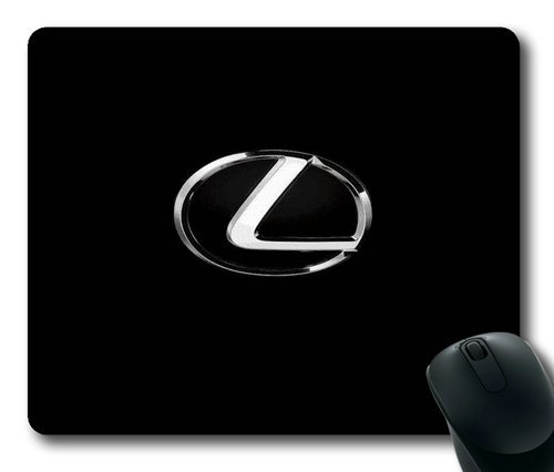 lexus-car-logo-on-black-rectangle-mouse-pad-by-eemuse