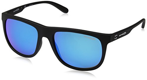Arnette Herren 0AN4235 01/25 56 Sonnenbrille, Schwarz (Matte Black/Greenmirrorlightbluee),