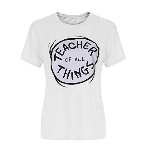 Baby Mädchen Jungen, Yanhoo Kleinkind Baby Kinder Jungen Mädchen Kurzarm Oansatz Shirt Pullover Tops Lehrer Aller Dinge Kinder Casual Rundhals T-Shirt ()