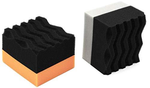 Mad for Detailing Soft Foam Tire & Trim Applicator Pad Black & Grey 2 Pack