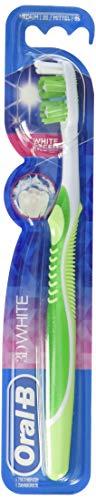 Oral-B 3D White Zahnbürste, 35 mittel, 4er Pack (4 x 1 Stück) - Zahnbürste Oral-b White 3d
