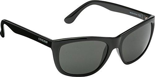 Cressi roma, occhiali da sole, prodotti in italia, nero, taglia unica