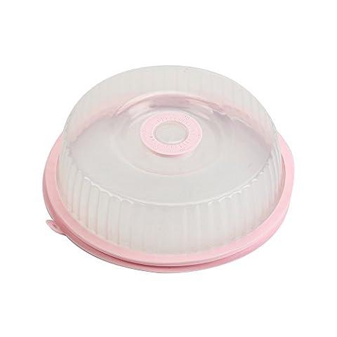 micro-ondes Coque pour nourriture, Tianranrt 1pièce Nourriture au micro-ondes avec housse Huile capuchon chauffé scellé Coque multifonctionnel poussière Plat ustensile de cuisine rose