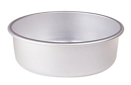 Ollas Agnelli Tortiera cónicos con Hem, Altura 8 cm, Aluminio, Plata, 30 cm