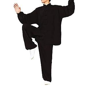 Nanxson Unisex Kungfu Tai Chi Lang Arm Anzug Baumwolle Lose Training Workout YDTZM0003