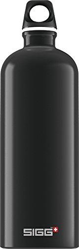 SIGG Trinkflasche Traveller Black, Aluminium, Bottle, mit Schraubverschluss, schwarz, 1,0 l, 8327.40