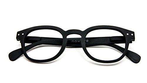 NOWAVE Occhiali da lettura per Presbiti | Montatura leggera, colorata e moderna | Occhiali Presbiopia Anti luce blu e UV | Immediato comfort visivo | +1.50 Nero