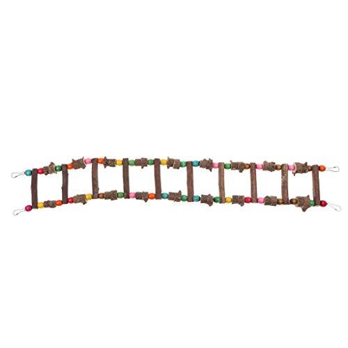 non-brand MagiDeal Holz Leiter Hängebrücke Schaukel Spielzeug für Vogel Papagei Graupapagei Kakadu Ara Sittiche Nymphensittiche Hamster Ratten Rennmaus Chinchilla Meerschweinchen - 80 cm