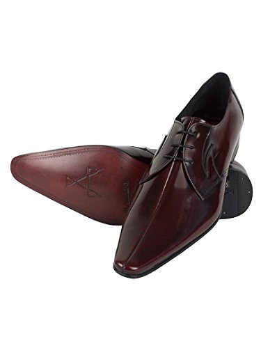 Jeffery West Homme Pino Chaussures poli, Rouge Rouge