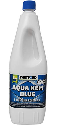 Thetford Aqua Kem BLUE 2 Liter Sanitärflüssigkeit Sanitärmittel für Camping mobile Toiletten Fäkalientank