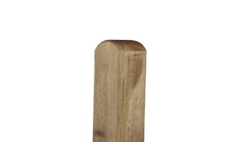 meingartenversand.de Zaunpfosten/Holzpfosten aus Kiefer/Fichte mit Rundkopf für Sichtschutz im Garten in den Maßen 9 x 9 x 190 cm
