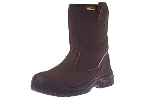 WALKX Herren Sicherheits Arbeits Stiefel Schuhe S3 SRC - 3M L-Protection® 45 Breite Breite Stiefel Arbeit Für Männer