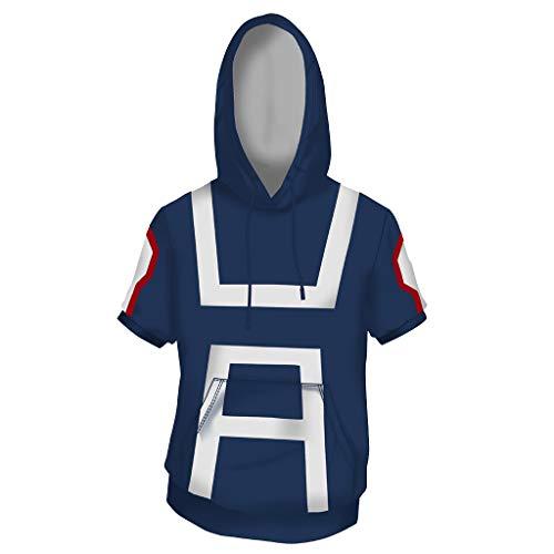 My Hero Academia College Spiel Anime Film Cosplay Kostüm Erwachsene Outfit Unisex Academia College Schule Kurzarm Tägliche Uniformen,Blue-XL
