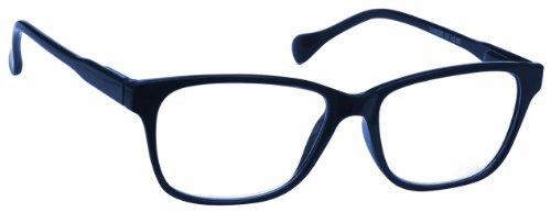 UV Reader Lesebrille Marineblau +3.00 Dioptrien Designer Stil Damen Herren Leicht Komfortable UVR027 mit Etui