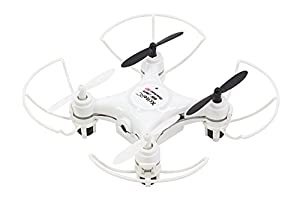 XciteRC - Cuadricóptero Blanco 15007700-Rocket 55XXS, cámara 3D de 4Canales RTF. V2de 3velocidades con Barra Protectora