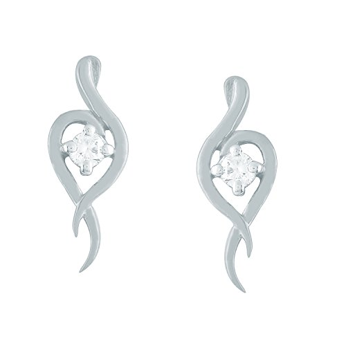 Giantti Diamant pour femme pendantes Boucles d'oreilles (0,2CT, qualité HSI, Gh-colour)