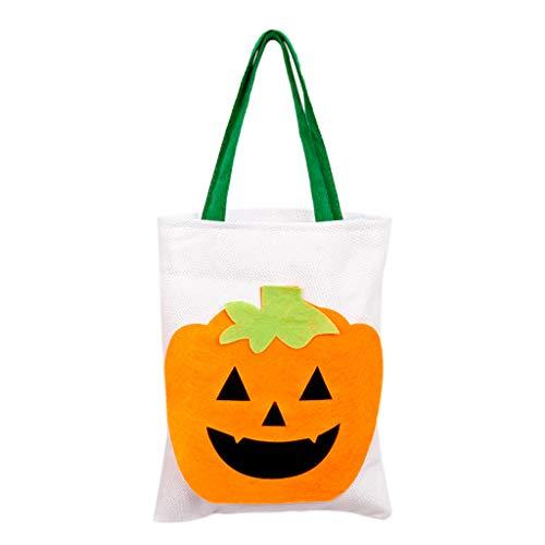 Kostüm Apple Candy - SilenceID Halloween-Leckerbissen-Taschen für Kinder Kürbis-Einkaufstasche Süße Süßigkeiten-Aufbewahrungsgeschenk-Tasche Handgepäckbeutel