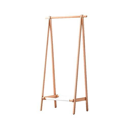 YuanYu Kleiderständer, Buche Holz Kleiderbügel Schlafzimmer Boden Massivholz Kleiderständer Modern Home einfaches Falten Kleiderständer Kleiderablage (Size : 120x56x150cm)