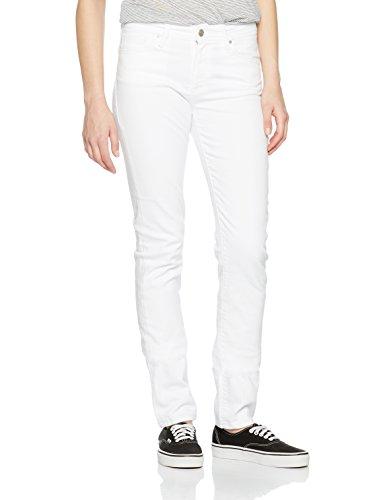 Cross Jeans Damen Slim Jeans (Schmales Bein) Anya, Weiß (White 107), W26/L32 (Herstellergröße:26/32)