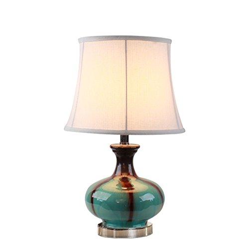 personnalité simple La Méditerranée Bleu Céramique Décoration Style Européen Lampe De Table Chambre Lampe De Chevet Moderne Simple Rural Table Lamp Creative