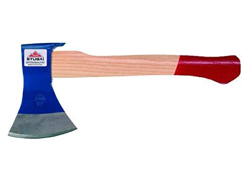 Stubai Zimmermannsbeil Hacha de Carpintero 1000 g, 2 Palas, Azul/Beige/Rojo, 50x4x20 cm