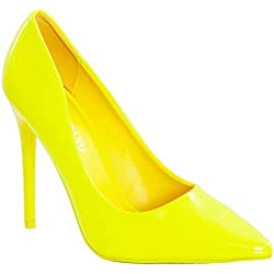 Toocool , Damen Pumps, gelb - neongelb - Größe: 40 EU