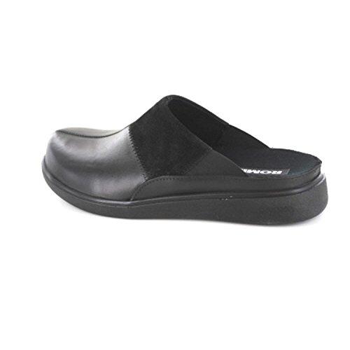 Pantofole Da Uomo Romaka Gomera H 01 Nere (nero 101 101)