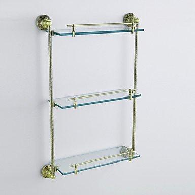 HJ olio di bronzo lucidato anticato 3-tier mensola con vetro