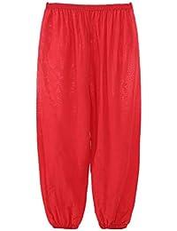 beautyjourney Pantalones Harem Holgados de niños niñas, Disfraz de Danza del Color sólido Pololos…