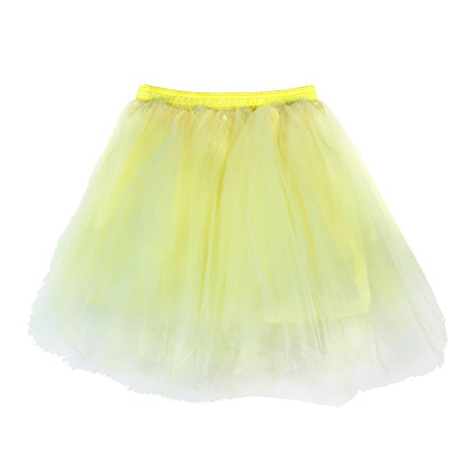 QingJiu Damen TüLlrock 50er Rockabilly Petticoat Tutu Unterrock Kurz Ballett Tanzkleid Ballkleid Abendkleid Gelegenheit ZubehöR