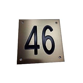 artigianale Kunsthandwerk Targa OTTONE 15 x 15 cm Hausnummer 4 Löcher, Zimmer, Zimmer für Zuhause PERSONALIZZATA, Büro 1 Schlüsselanhänger