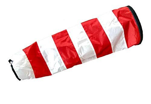 molinoRC Weiß - roter Windsack | wie auf Flugfeld | 2019 | Durchmesser 17cm | Windsack 70cm | Windsocke | Windspiel | Wetterfahne | Windturbine |  |  | ✅ |  |