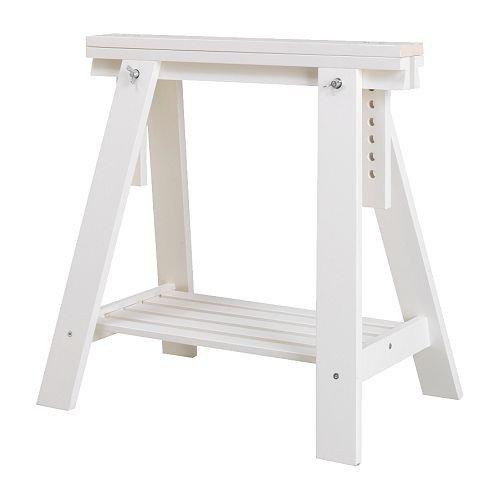 IKEA FINNVARD Tischbock mit Ablage in weiß