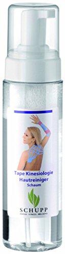 Schupp Tape Kinesiologie Hautreiniger Schaum | Sanfter Reiniger zur Vorbereitung der Haut bei der Tape Anlage (Spender (200 ml)) - Schaum-anlagen