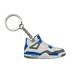 ProProCo Sneaker Schlüsselanhänger Air Jordn 4 IV Schuh Schlüsselanhänger Schwarz Gelb Schuh Fashion für Sneakerheads,hypebeasts und alle Keyholder Nik (Weiß Blau)