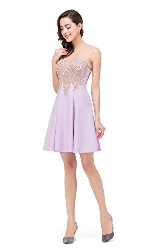... Babyonlinedress Femme Elegant Robe de Soirée Cocktail Cérémonie Courte  sans Manches Col Cœur Dos ... 49bd7b33a8b