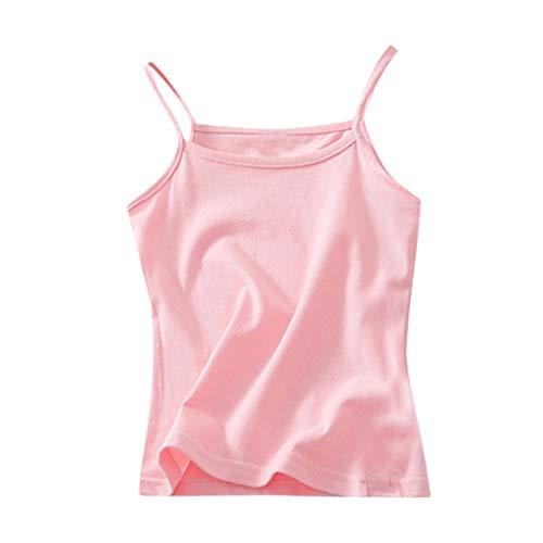 Julhold Kinder Kinder Mädchen Lässig Einfach Solide Ärmellos Süßigkeit Farbe Weste T-Shirt Unterhemd Tops Kleidung 1-6 Jahre -