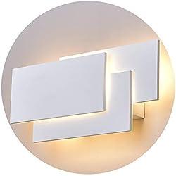 K-Bright Applique murale,24W lampe murale,Eclairage mural étanche IP20,Design moderne chambre élégante,applique murale couloir,blanc chaud, blanc