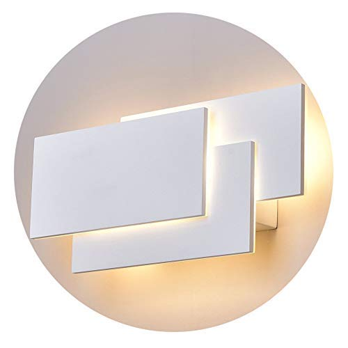 Klighten LED Wandleuchten Innen,24W,IP20 Aluminium Badlampe,Modern Design Lampe Wandbeleuchtung für Badlampe Wohnzimmer Schlafzimmer,2700K-3000K Warmweiß,weiß